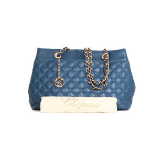 Chopard Imperiale All Day Blue quilted calfskin leather handbag