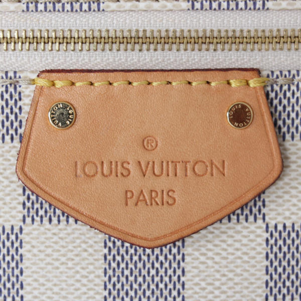 louis vuitton iena pm damier azur handbag