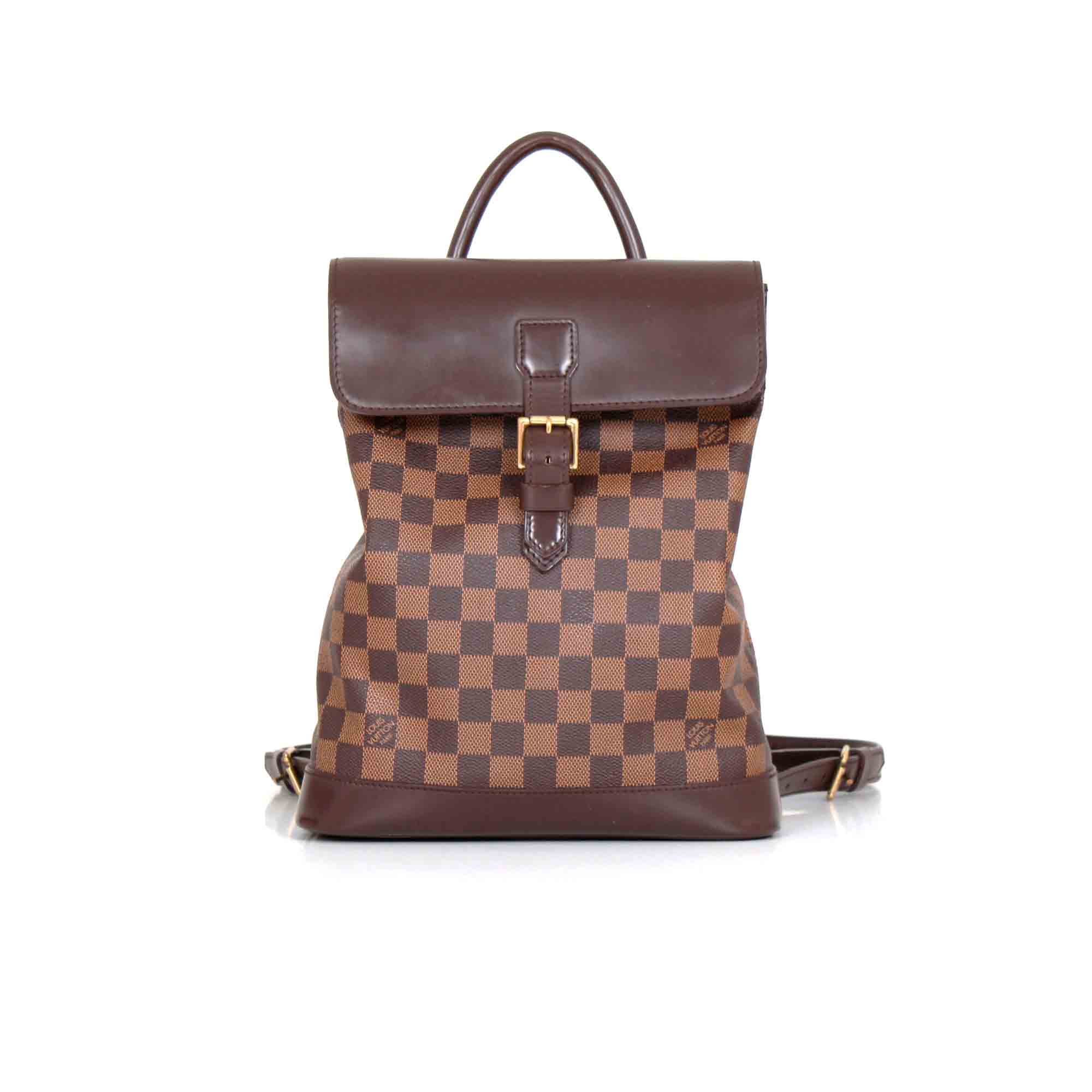 7746622f66c5 Louis Vuitton Damier Ebène Soho Backpack