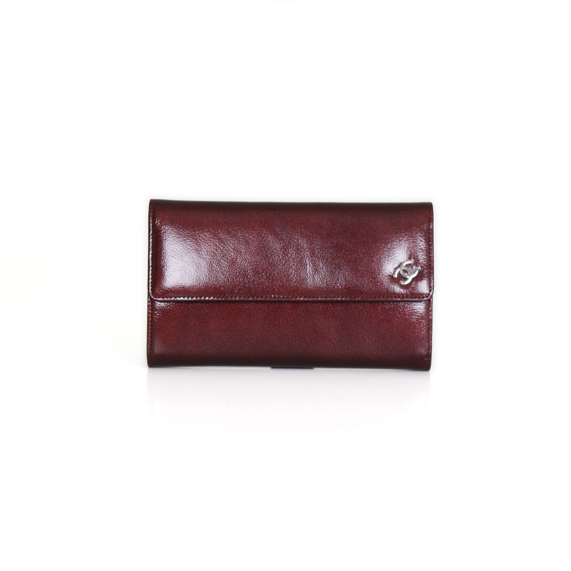 edecf09ca308 Front flap Burgundy Patent leather Wallet | CBL Bags