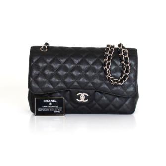 Chanel Timeless Jumbo Black lambskin leather handbag