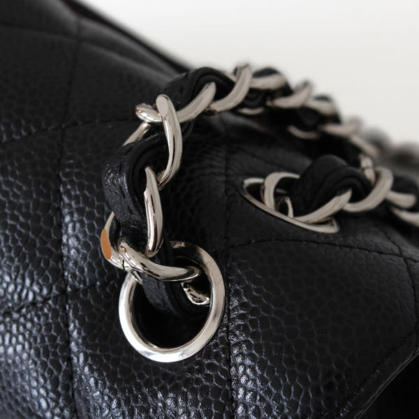Chanel Timeless Jumbo Black lambskin leather handbag