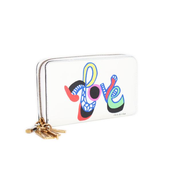 Dior Lady Dior Niki de Saint Phalle Ecru Love Wallet