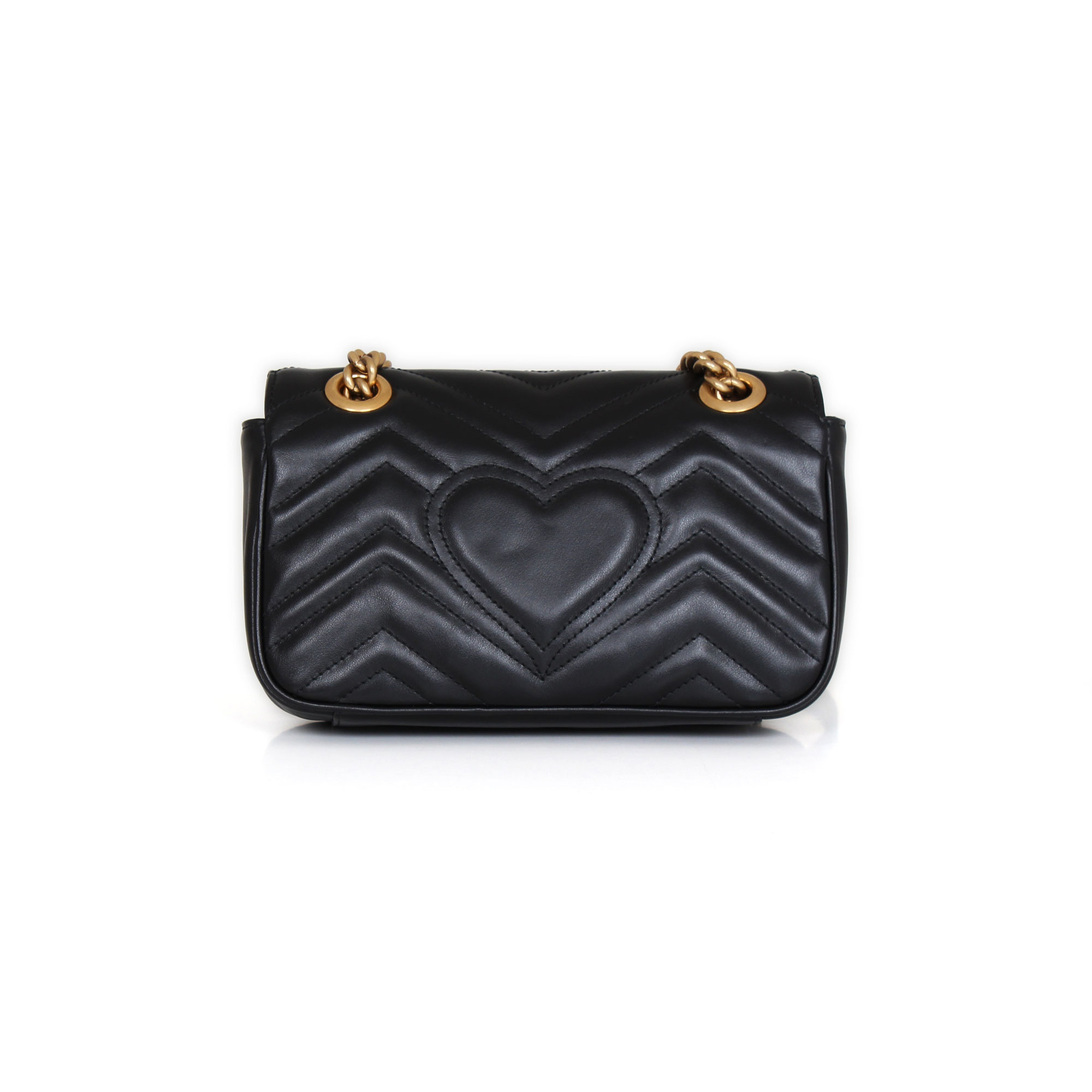 49c2d5f099c Gucci GG Mini Marmont Black cowhide leather