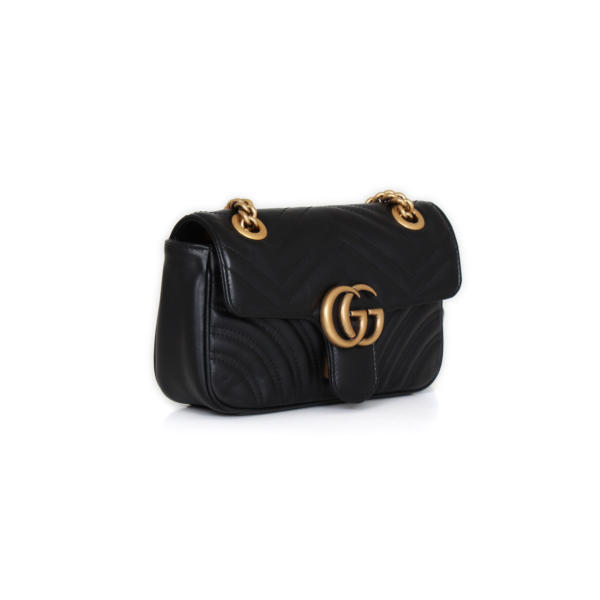 Bolso Gucci GG Marmont Mini Piel Negro