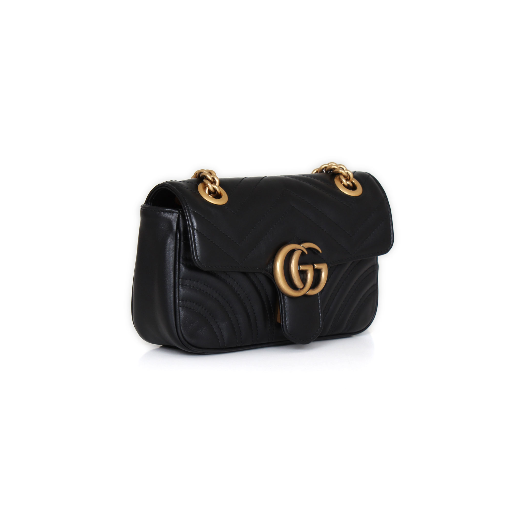 bebcb7330 Gucci GG Mini Marmont Black cowhide leather | CBL Bags