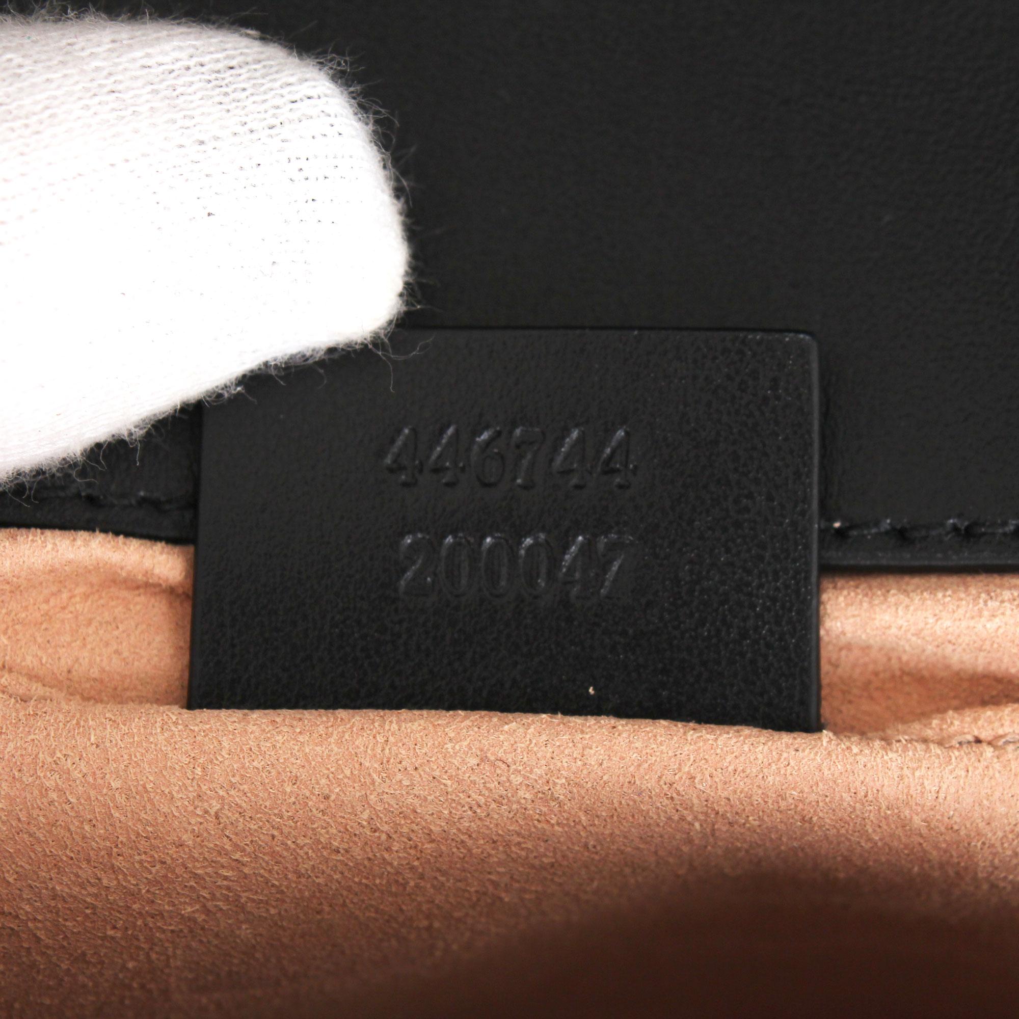 909a4ff7003 Gucci GG Mini Marmont Black cowhide leather