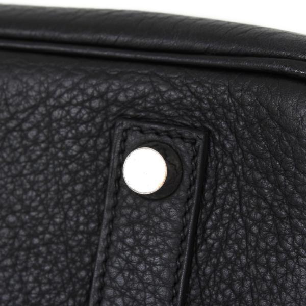 Bolso Hermès Birkin 35 Piel Fjord Negro Herrajes Paladio