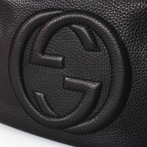 Bolso Gucci Hoho Disco Pequeño Piel color Negro
