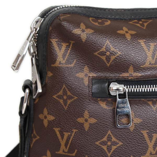 Bolso Messenger Louis Vuitton Torres. Lona Monograma y piel Macasar