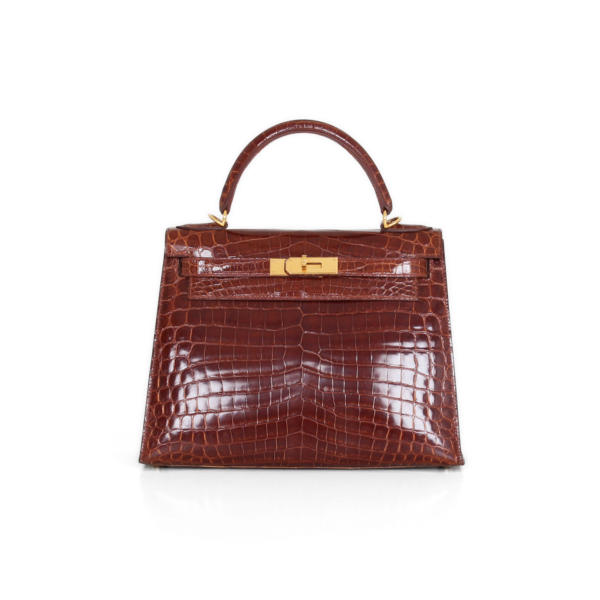 Bolso Hermès Kelly 28 Cocodrilo