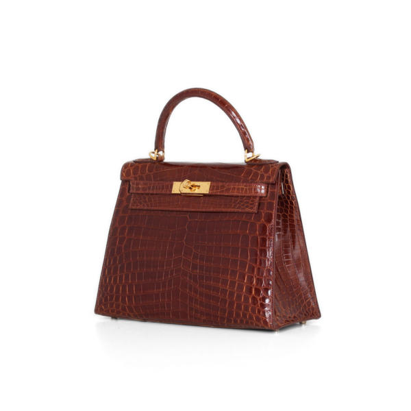 Hermes Kelly 28 croco handbag